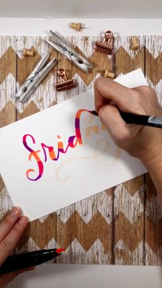 Watercolor Lettering with Tombow Dual Brush Pens A fun color combination for watercolor lettering! Brush Pen Art, Watercolor Brush Pen, Tombow Dual Brush Pen, Watercolor Lettering, Doodle Lettering, Creative Lettering, Lettering Styles, Brush Lettering, Calligraphy Drawing