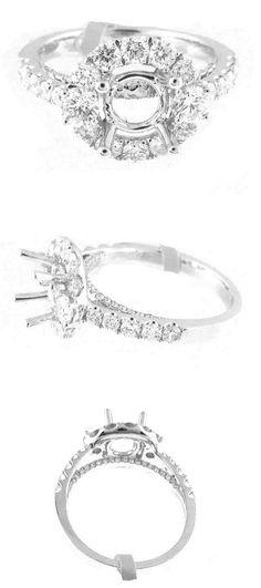 Settings ly Halo Diamond Engagement Ring Semi Mount 0 46