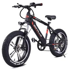 """20"""" Electric Fat Tire Bike Snow Mountain Bicycle w Removable Lithium Battery 48V 