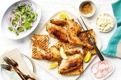The herb-and-sesame spice mix in this recipe is also great on its own – dip some bread in olive oil, dunk it in za'atar and enjoy.