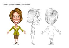 I did these animated character designs for a company that used them in both a film and for a series of commercials, as well as some TV show pilots, obviously political in nature. I thought I'…