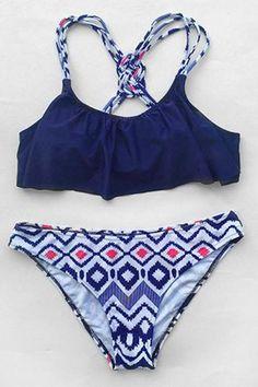 Cupshe Closer Than Ever Falbala Bikini Set