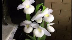 How to make a nylon stocking flowers - orchid