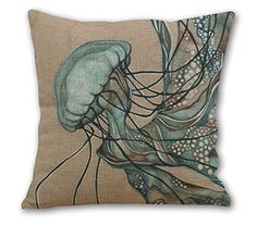 OneMtoss 18'Inches Cotton Linen Square Throw Pillow Case Cushion Cover for Living Room Watercolor Jellyfish OneMtoss http://www.amazon.com/dp/B00Y0KIW4W/ref=cm_sw_r_pi_dp_9iBWwb1NDJS00
