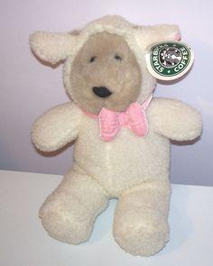 Starbucks Bearista Bear #10 White Wooly Lamb Sheep 1999 Plush MWT Easter #Starbucks