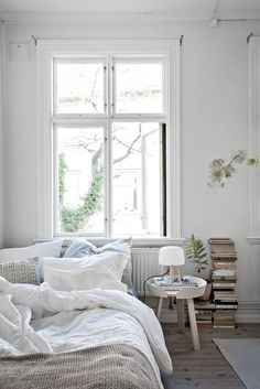 3 Exquisite Tips: Simple Minimalist Home Offices minimalist home office workspaces.Minimalist Bedroom Decor Wardrobes minimalist home modern lights.Minimalist Home Bathroom Modern. Cozy Bedroom, Dream Bedroom, Bedroom Decor, Bedroom Ideas, White Bedroom, Dream Rooms, Scandinavian Bedroom, Bedroom Inspiration, Bedroom Furniture