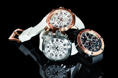 A beautiful trifecta of Bison No 36 Ingersoll timepieces: (black), (white), & (silver). A sophisticated and stylish statement piece, each watch represents German designed perfection. Ingersoll Watches, Swiss Made Watches, Bison, German, Stylish, Silver, Accessories, Beautiful, Black