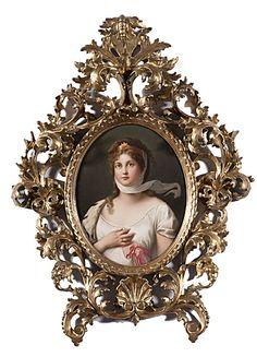 Large KPM Porcelain Plaque of Queen Louise - Cowan's Auctions