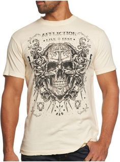 "Men's ""Decompose"" Tee by Affliction x Inked (Dirty White) #InkedShop #skull #tee #top #clothing #style #Mens #fashion"