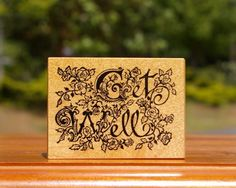 Get Well Wood Mounted Rubber Stamp by PSX # F-697 Roses Flowers Floral  | eBay