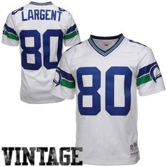 6565201f5c3 Steve Largent Seattle Seahawks Mitchell & Ness 1985 Retired Player Vintage  Replica Jersey - White, Men's, Size: 4XL