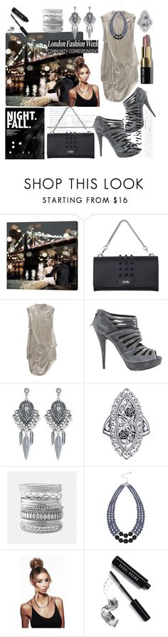 """""""Night fall."""" by selma-masic1 ❤ liked on Polyvore featuring Gum by Gianni Chiarini, Rick Owens, Miu Miu, Accessorize, Avenue, M&Co and Bobbi Brown Cosmetics"""