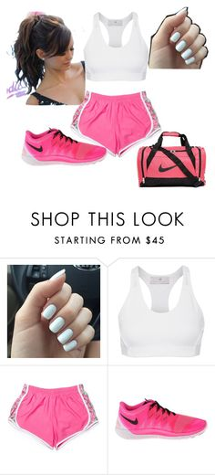 """Work out"" by shawnia-selinia-thomas ❤ liked on Polyvore featuring adidas, NIKE, women's clothing, women, female, woman, misses and juniors"