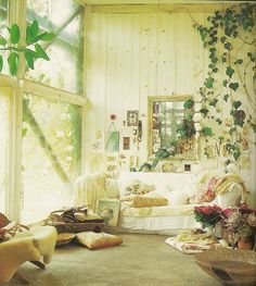 Different kind of dreamy room.