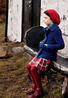 Blue and red tartan ~ Glencoe, Scotland.
