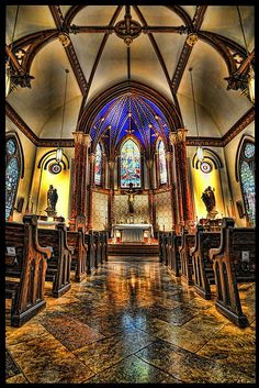 Married here at Saint Mary's Cathedral, Austin, Texas Sacred Architecture, Church Architecture, Amazing Architecture, Old Churches, Catholic Churches, Church Interior, Cathedral Church, Chapelle, Place Of Worship