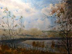 Watercolor Landscape, Rocky Mountains, Art Studios, Scenery, Fine Art, Artist, Painting, Paisajes, Landscape