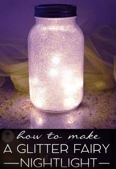 DIY Glitter Fairy Mason Jar Light https://www.facebook.com/LifeLearnedFeelings/posts/1289872657721711
