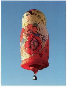 Matryoshka balloon (i heart hot air balloons too! Air Balloon Rides, Hot Air Balloon, Air Ballon, Matryoshka Doll, Wooden Dolls, Kite, Ukraine, Creations, Random