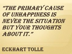 Happiness quote from Ekhart Tolle