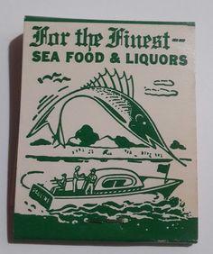 Greenport, Long Island, New York. The Pauline. 1950s front strike matchbook. American Match Co New York NY. | eBay!