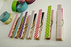 Washi Tape Clothespin Magnets | That's What {Che} Said...