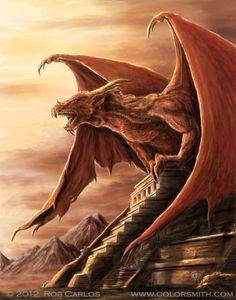 Armageddon Dragon - by Rob Carlos