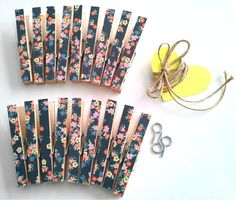 AS SEEN ON The Forever Glamorous 18 Piece Floral Beauty Photo Clothesline Kit. Floral Chic. Rustic Wedding. Boho. College Dorm Decor.