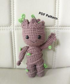 PATTERN Baby Groot vol2 Amigurumi Crochet Pattern #crochet #crochetpattern #affiliate