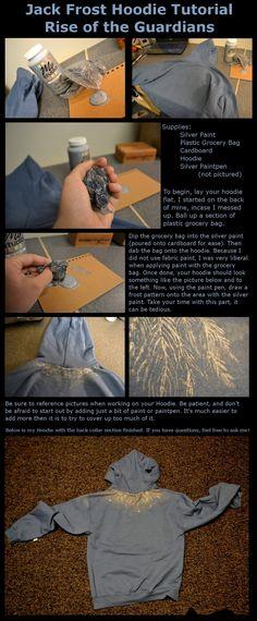 Jack Frost Hoodie: Tutorial by CosmicalFox.deviantart.com