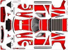 Lamborgini Miura, Машинки з паперу (схеми, розгортка, викрійка, шаблони, відео)
