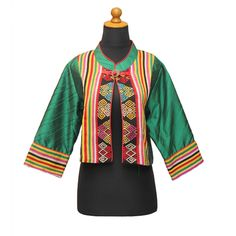 Blouse Tenun NTT (Green) | Bahan: Tenun NTT dan Tafet Opnaisel | Harga: Rp 750.000