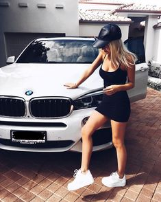 For decades, a sales technique at auto shows employs female models attired in tight dresses or miniskirts wearing uncomfortable heels, smiling and posing enchantingly. Auto Girls, Car Girls, Bmw Love, Love Car, Super Sport, Super Cars, Bmw Girl, These Girls, Hot Cars