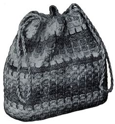 Crocheted Handbag - free vintage pattern from Quick Crochet with Enterprise Yarn, Book No. 9305.