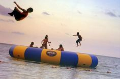 I have one at the lake, SOOO much fun! It hurts if you fall off into the water really hard though.