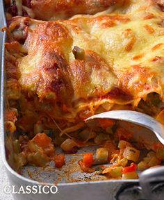 Beefed-Up Vegetable Lasagna #recipe