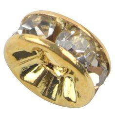 niceeshop(TM) 100 Pcs Kristall Gold Plattiert Zwischenperle Perle Spacer 8mm-Golden - http://schmuckhaus.online/niceeshop/golden-niceeshop-tm-1-sack-100pcs-kristall-rand
