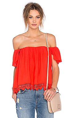 Lovers + Friends x REVOLVE Life's A Beach Top in Red Orange