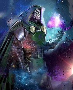 Dr Doom Marvel, Marvel Comics Art, Marvel Heroes, Comic Books Art, Comic Art, Fantastic Four Villains, Superman Artwork, Marvel Villains, Marvel Comic Character