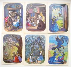 Brothers Grimm Snow White and Rose Red by RealTreasureBox on Etsy