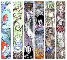 Miyazak. Ponyo, Totoro, Spirited Away, Howl's Moving castle, Princess Mononoke