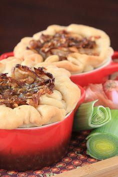 Vegan Caramelized Leek and Shallot Tart