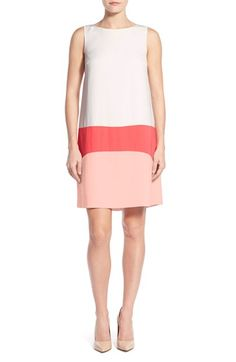 Halogen® Colorblock Shift Dress (Regular & Petite)