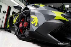 Lamborghini Aventador SV siting on Vossen Wheels and fitted with Novitec kit. https://www.carid.com/vossen-wheels/