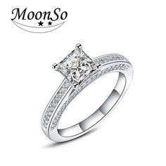 Wedding & Engagement Jewelry Jexxi High Quality New Bridal Wedding Engagement Rings Cubic Zirconia Rhinestone 925 Sterling Silver Anniversary Bands For Woman Aromatic Flavor