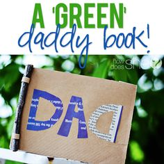 A green Fathers day gift idea! Super cute project for the  kiddos to make...Dad will be sure to love this!! howdoesshe.com #fathersdaygift #fathersdayideas