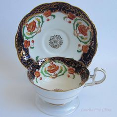 Free Shipping Bell China by Shore & Coggins 2425 Imari Style Bone China Tea Cup and Saucer 1930's by LauriesFineChina on Etsy