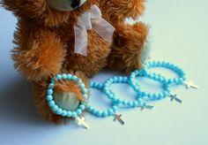 Baptism favors, bracelet favor for baptism, christering favor, blue bracelet for baptism, bracelet for baptism by BetweenHandsCrafts on Etsy