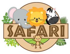 ® Colección de Gifs  ®: IMÁGENES DE SAFARI Jungle Theme Birthday, Jungle Party, Safari Party, Safari Theme, Animal Birthday, 2 Baby, Safari Animals, Animal Party, Decoration