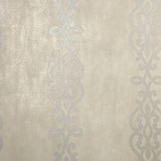 Kenneth James Anaconda Glitter Stripe Wallpaper Taupe - 2542-20721